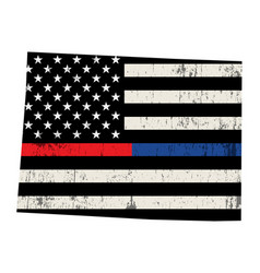 state colorado police and firefighter support vector image