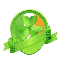 Sticker Shamrock St Patricks Day vector