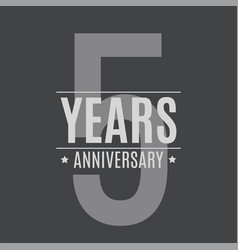 template logo 5 years anniversary vector image