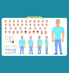 Tourist male vacation traveller character vector