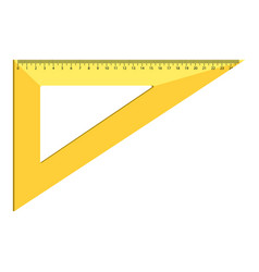 triangle ruler icon realistic style vector image