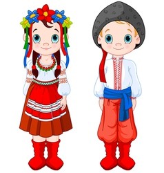 Ukrainian Boy and Girl vector