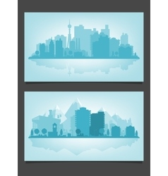 urban skyline with relections vector image
