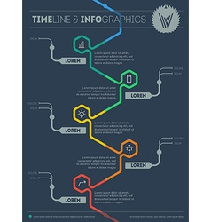 Web template of Infographic with icons and design vector