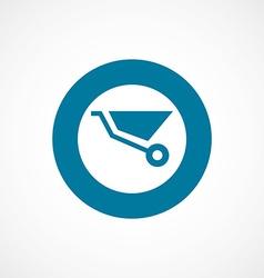 wheelbarrow bold blue border circle icon vector image