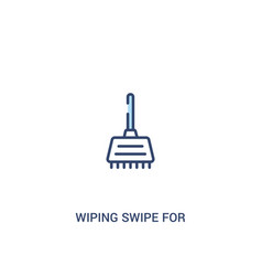 Wiping swipe for floors concept 2 colored icon vector