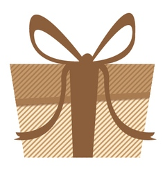 Brown gift and Bright gift isolated on white vector image vector image