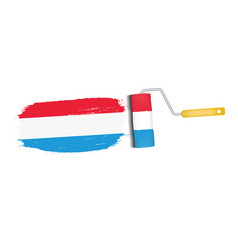 brush stroke with luxembourg national flag vector image