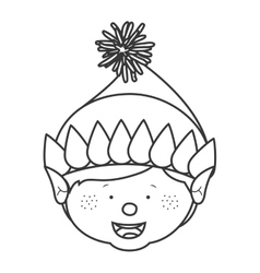 contour with gnome boy head vector image