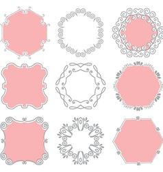 Cute hand drawn frames vector image vector image