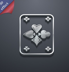 game cards icon symbol 3D style Trendy modern vector image