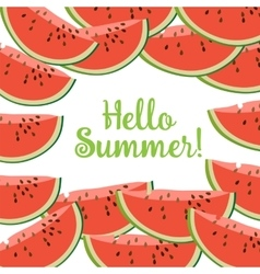 Hello Summer Watermelon vector image vector image