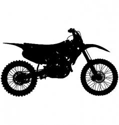 motocross bike vector image vector image