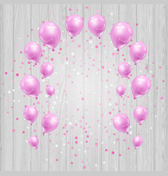 celebration background with pink balloons and vector image vector image