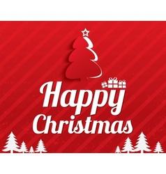Christmas Greeting Card Christmas tree Eps10 vector image vector image