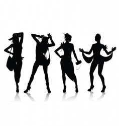 fashion model silhouettes vector image