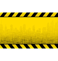grunge construction background with city vector image vector image