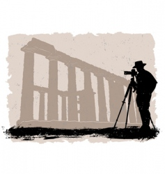 photographer with historical vector image vector image