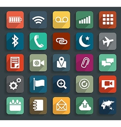 Technology business flat icons modern template des vector image vector image