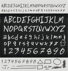 Unique handwritten letters vector image vector image