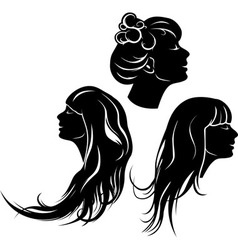 Beautiful girl profile vector image vector image