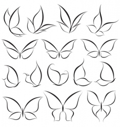 butterflies elements vector image vector image