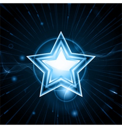 glowing blue star vector image