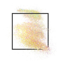 Loose realistic glitter in frame for text design vector image