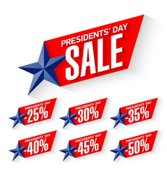 usa presidents day sale discount labels vector image