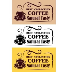 Best Collection Coffee labels vector image