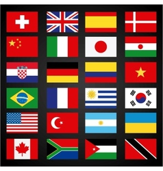 flags set vector image