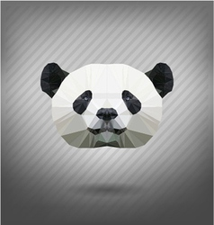 abstract triangle polygonal panda vector image