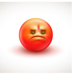 angry smiling emoticon emoji vector image
