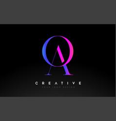 Ao oa letter design logo logotype icon concept vector