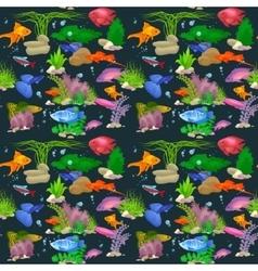 Aquarium fish seamless pattern vector image