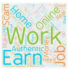 Authentic info Work online from home to earn money vector