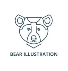 bear line icon bear vector image