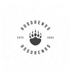 Bear retro vintage insignia or logotype vector