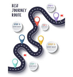 Best journey route road trip and journey vector