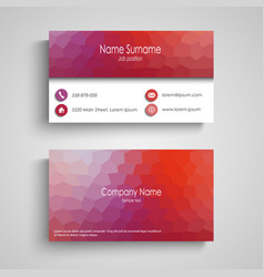 Business card with poly flow pattern vector