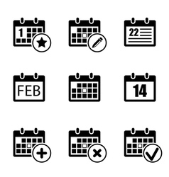 Calendar icon set vector