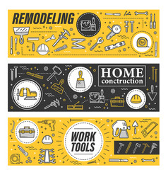 carpentry diy and construction tools vector image