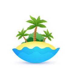 cartoon landscape of tropic island vector image