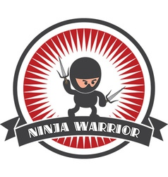 Cartoon ninja design elements vector