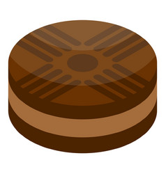 chocolate biscuit icon isometric style vector image