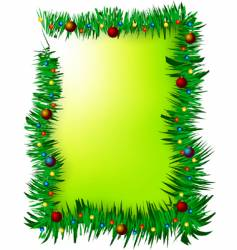 Christmas green frame vector image