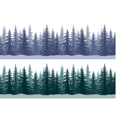 christmas trees seamless patterns vector image