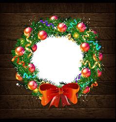 Christmas wreath template 2019 vector