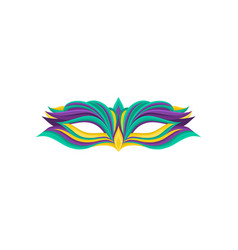 colorful icon of elegant masquerade mask clothing vector image