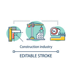 Construction industry concept icon design and vector